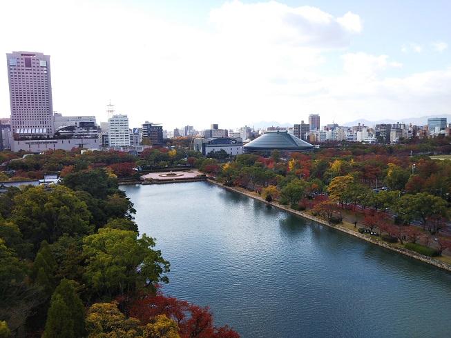 広島城から見た風景