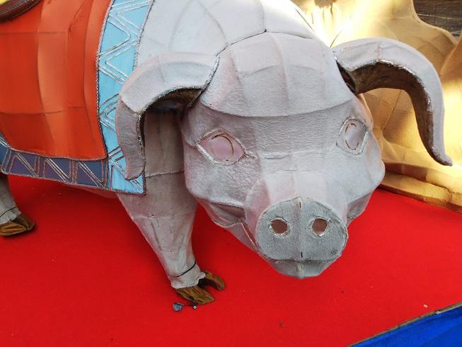 2020年ランタンフェスティバル 豚